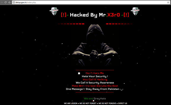 Department of Science And Technology, Government of India Hacked