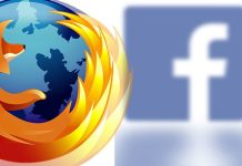 An Image of Firefox browser and Facebook