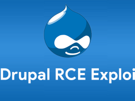 An image of the Drupal that is vulnerable to an RCE Exploit.