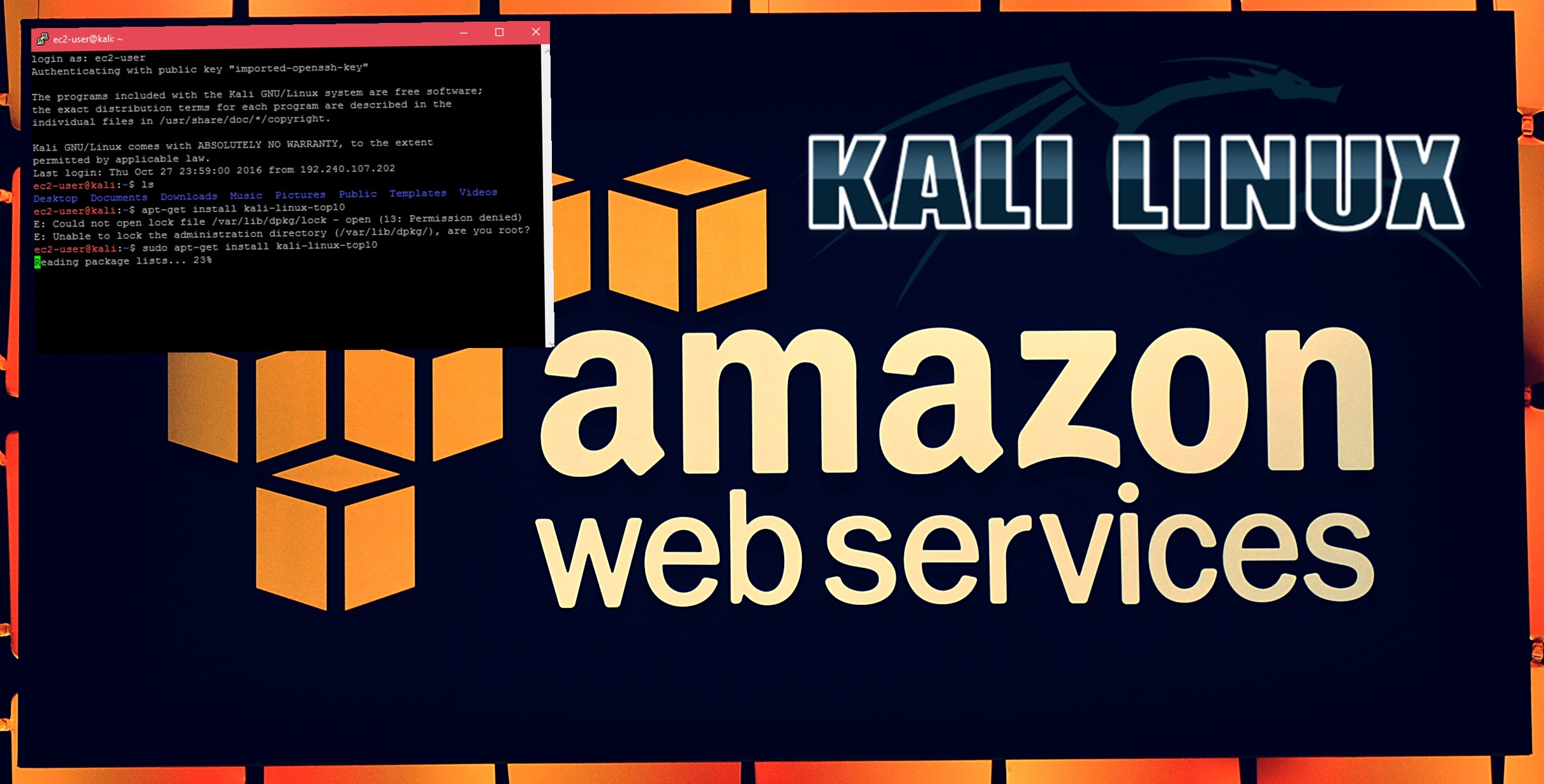 How To Configure Kali Linux on AWS Cloud with Public IP Address?