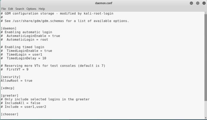 Enable Autologin user in Kali Linux