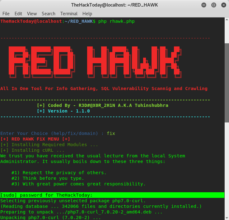 How to do Reconnaisance and Vulnerability Scan Using Red Hawk