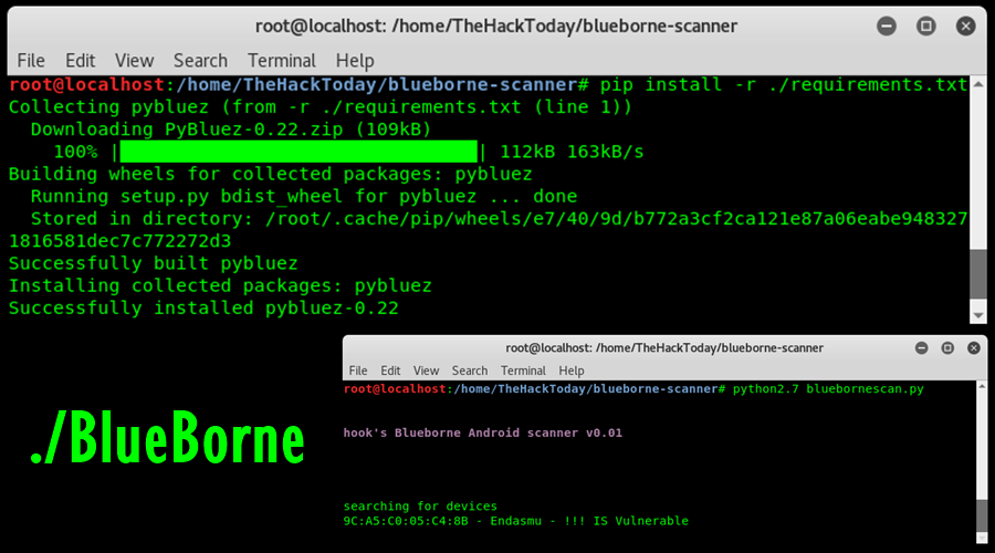 Scan Android BlueBorne Exploit Vulnerability on Kali Linux