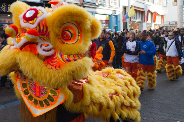 Lion. Chinese New Years Procession