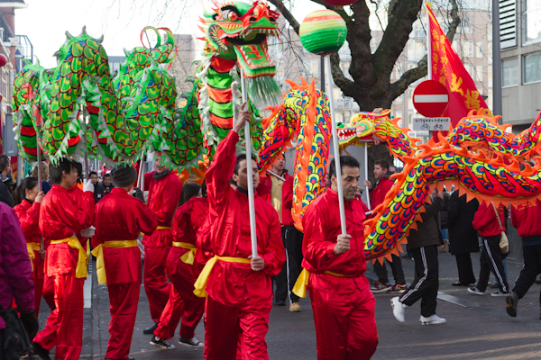 Dragon leading the Chinese New Years Procession