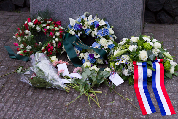 Wreath & Floral Tributes at the World War II Memorial on Rememberance Day