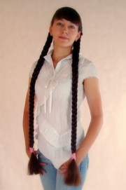 super long hair mid-thigh length