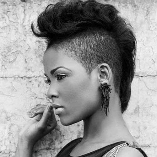Natural Hair Shaved Sides Black Women
