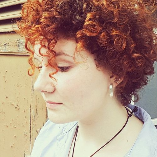 lush curly red hair