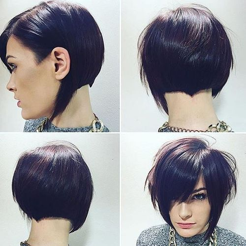 Ruffian Black Hairstyle with Oblique Fringe
