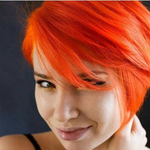 bright orange cascade bob