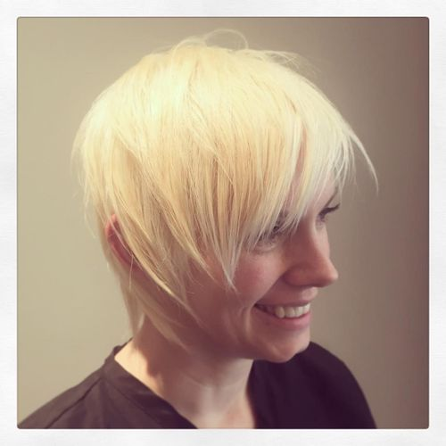 Slovenly White Cascade Haircut