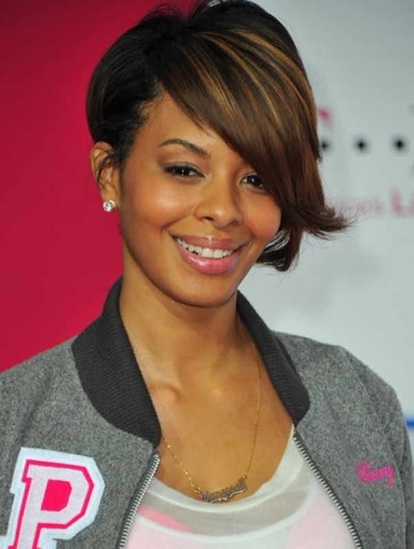 Black women short hairstyles with bangs 2