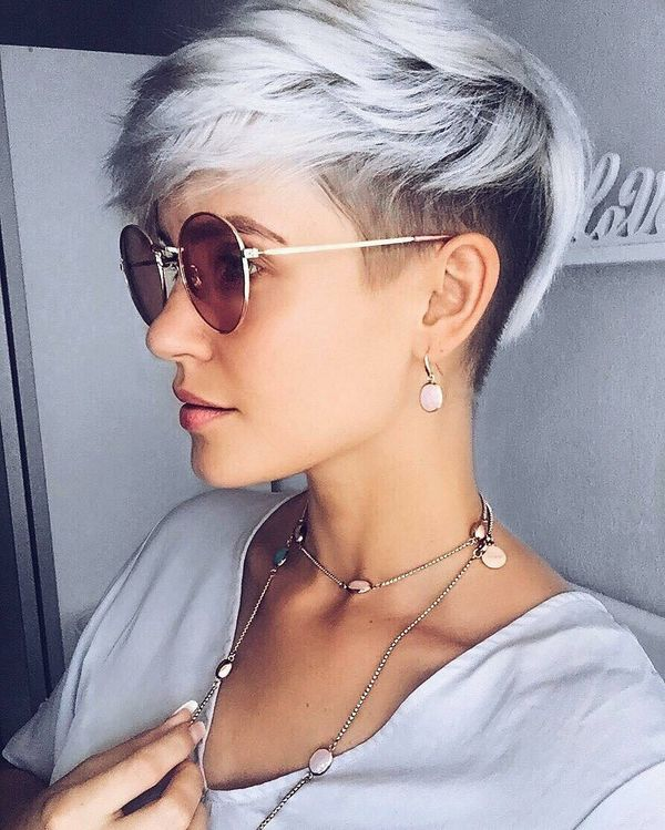 Short Silver Pixie Cuts 4