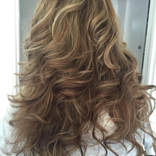 Cute Partial Brown And Blonde Highlights 1