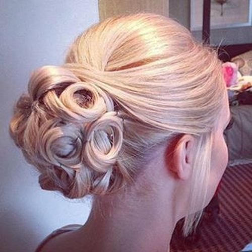 Bridal Updos For Medium Length Hair. Cool Bun Updo Hairstyle