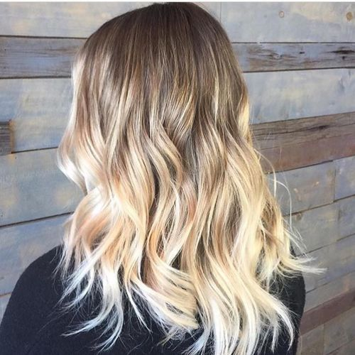 Bright blond ombre