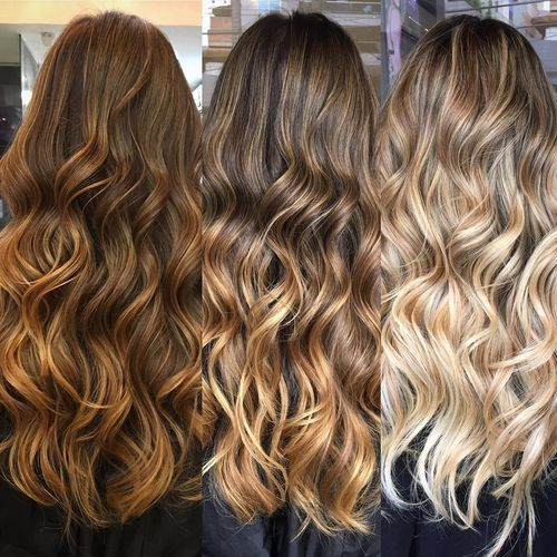 Chocolate Brown Hair With Blonde Highlights And Lowlights 1