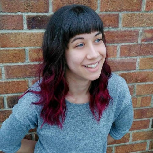 Natural red ombre