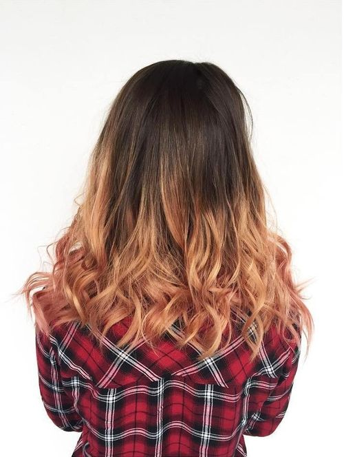 Trendy light brown ombre