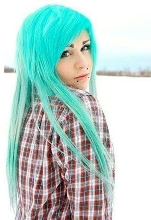 Aqua emo hairstyles for girls