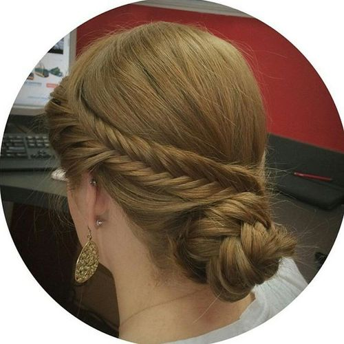 Attractive fishtail hairstyle