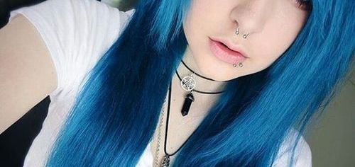 Cobalt blue emo hairstyles for girls