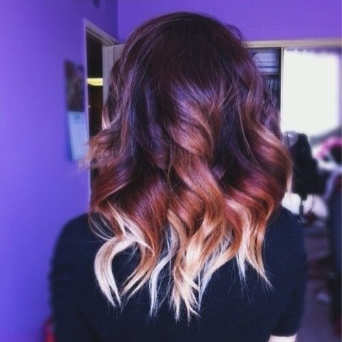 Tender brown and blond ombre