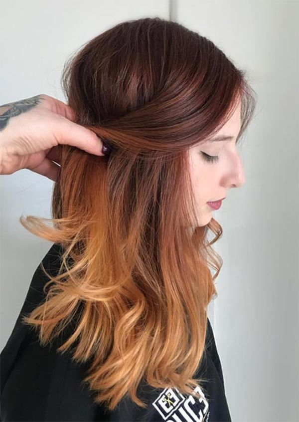 Ombré Colored Hair for a Perfect Fall Ombré Look 3