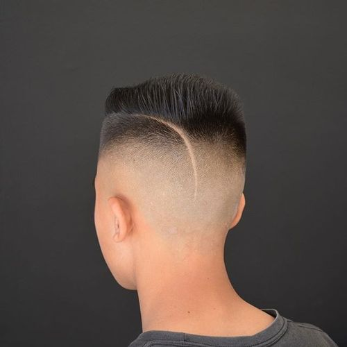 High and Tight Cut with an Extended Parting