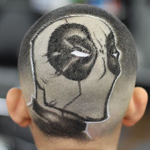 Creative Buzz Cuts With Art Design 5