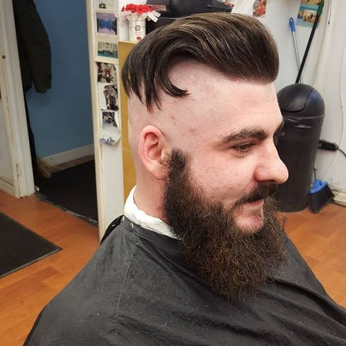 Funky Undercut with Absolutely Bald Sides
