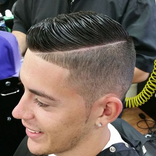taper fade with a part