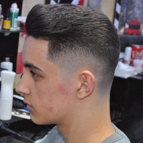 mid taper fade haircut
