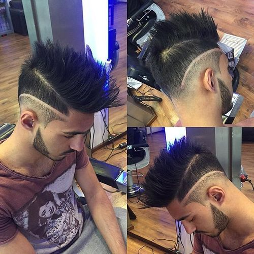 Spiky Mohawk with Fade Design