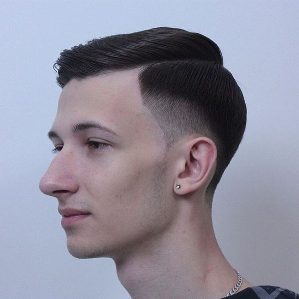 GoodLooking Side Swept Crew Cut Hairstyle 2