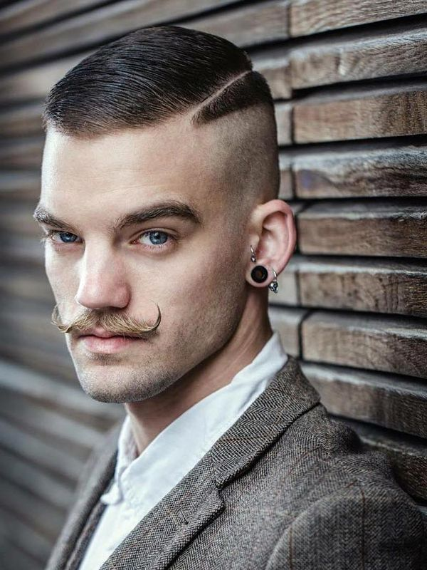 GoodLooking Side Swept Crew Cut Hairstyle 4