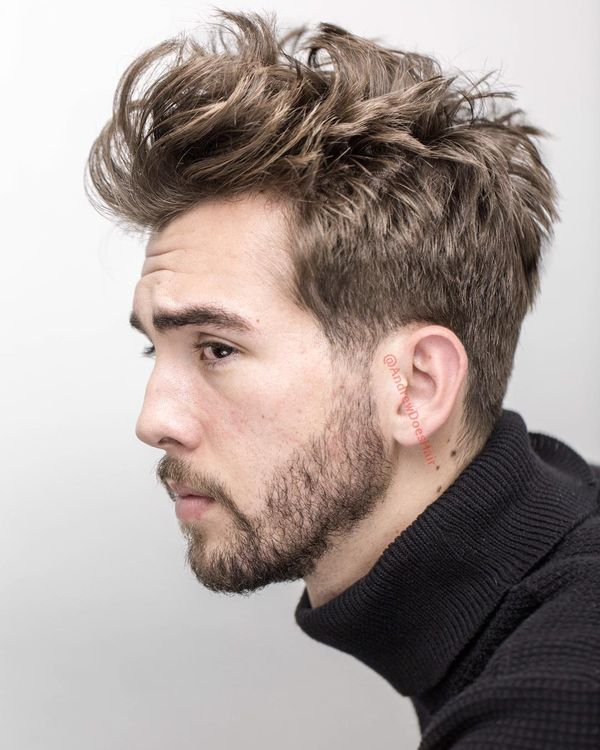 Mens Messy Hairstyles for Medium Hair 2