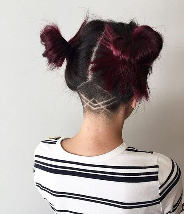 Cool female hairstyles with undercut designs 3