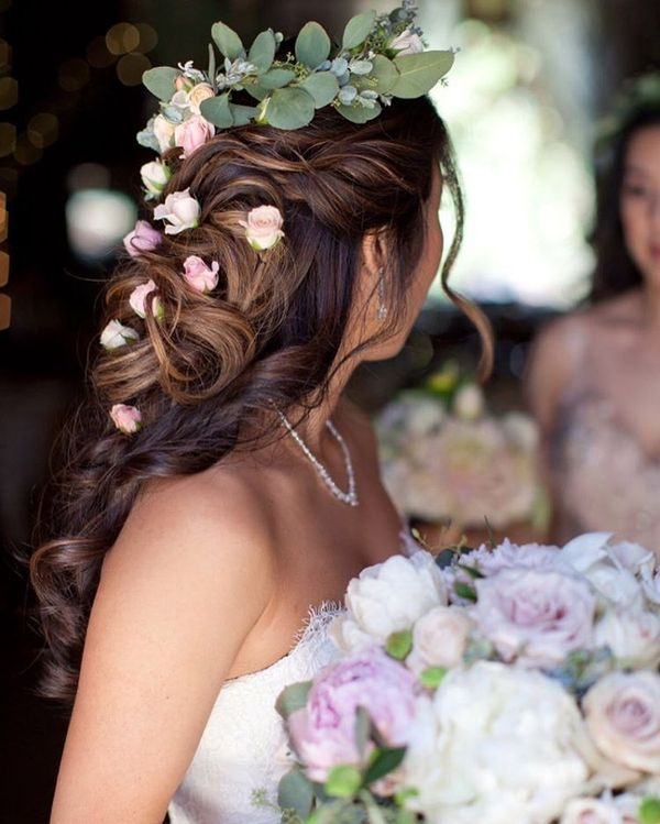 Wedding hairstyles for long hair bridal updos for long hair august floral cascading updo junglespirit Image collections