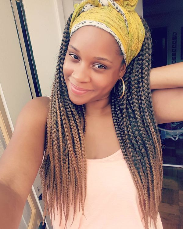 Caramel Blonde Crochet Braids with Headband