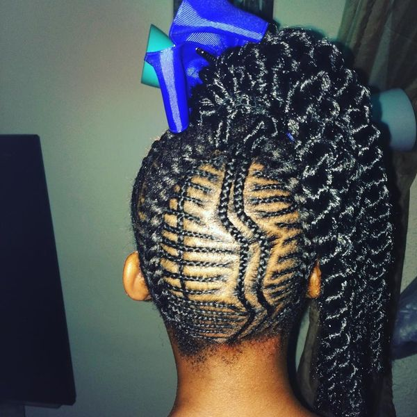 Fancy Micro Braids with Crochet Ponytail