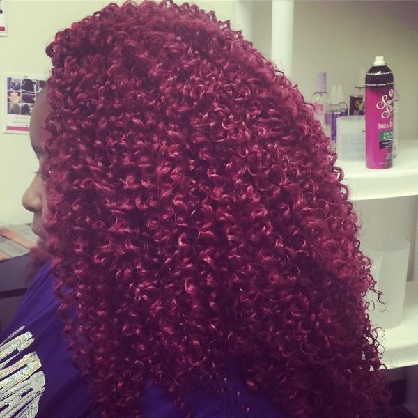 Charming Burgundy Crochet Curls
