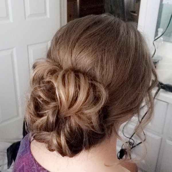 Curly Loose Chignon Down-Style
