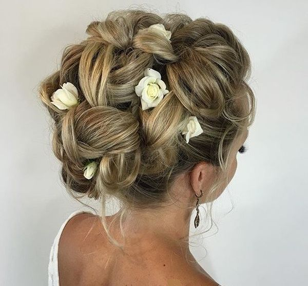 Textured Upstyle Wedding Hair