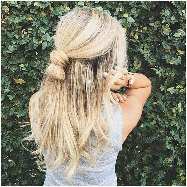 Half Up Half Down Hairstyles For Straight Hair: 85 Trendy Long Straight Hairstyles In 2018