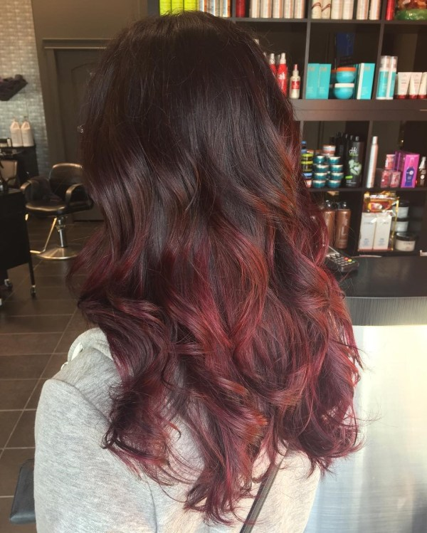 Brown-reddish ombre