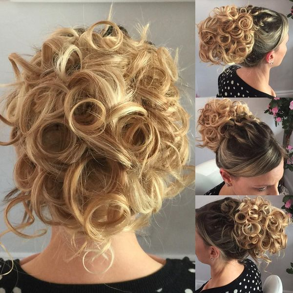 Curled ombre updo