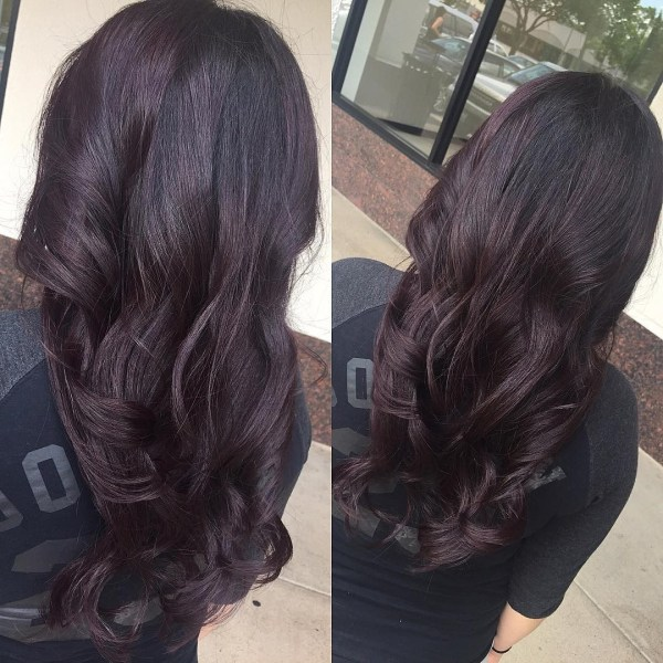 Deep purple loose hair