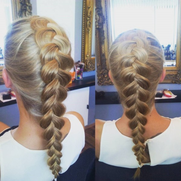 French braiding inside out